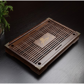 Bamboo wood tea tray