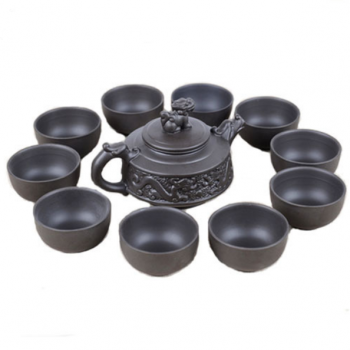 Yixing tea set with dragon teapot