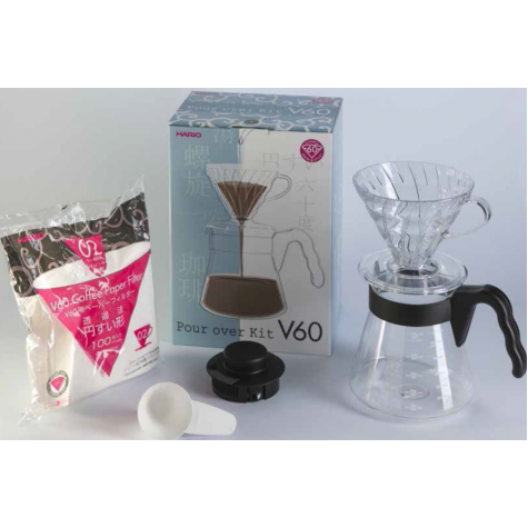 Hario V60 Pour Over Coffee Kit Black 02