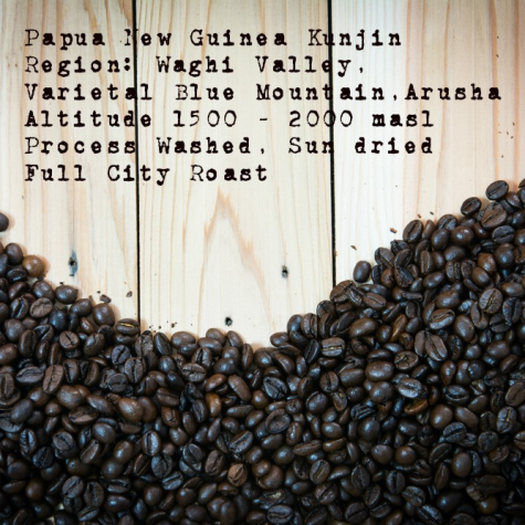 Papua New Guinea  Full City Roast Coffee beans