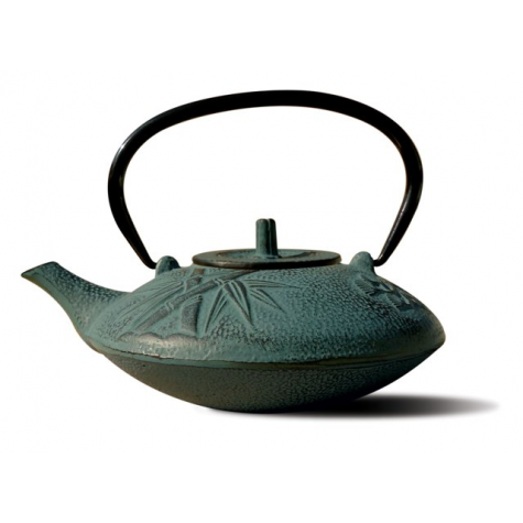 Shale Green Cast Iron Sakura Teapot